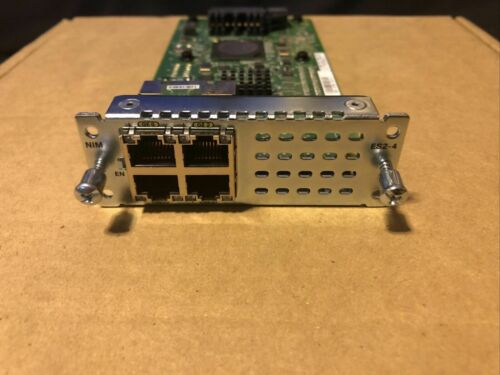 Cisco NIM-ES2-4 ISR 4000 Series 4x Gigabit Ethernet RJ-45 Router Module