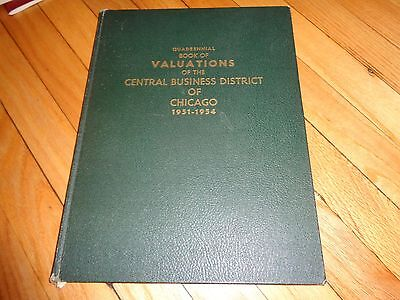 1951-1954 Valuations of Central Business District Chicago Maps Atlas
