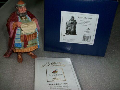 "NEW - GWS James C. Christensen Porcelain Nativity Figure ""Round John Virgin"""