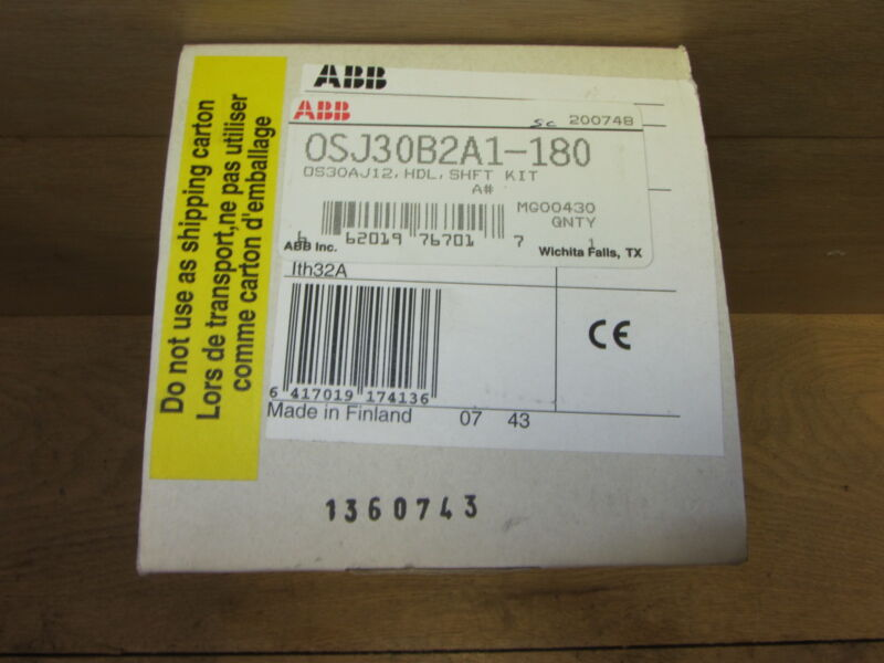 Abb Osj30b2a1-180 Handle, Shaft, And Disconnect New In Open Box Gro