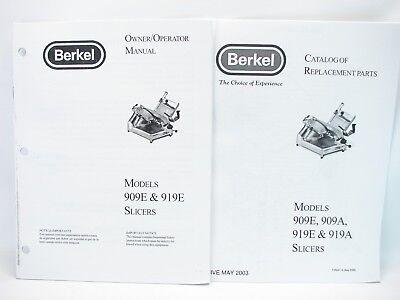 Berkel 909e 919e Slicers Owneroperator Manual Replacement Parts Catalog