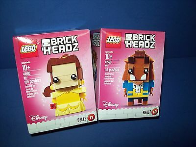 LEGO Disney Brickheadz Lot 41595 41596 Beauty and the Beast Belle #11 + #12 new