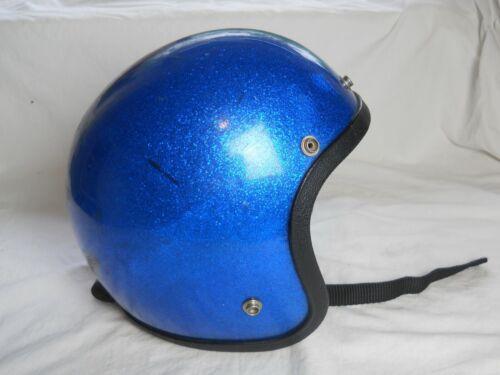 Vintage Blue Metalflake Motorcycle / Snowmobile Helmet,  (D.S.)