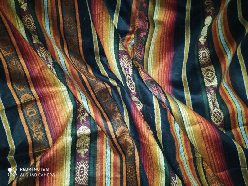 "Unusual Silk Antique 100"" X 69"" Saltillo Serape Mexican Tapestry Tribal rug"