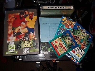 Super Sidekicks SNK Neo Geo MVS Cartridge Arcade kit Complete In Shock Box