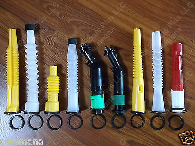 4 New Rubber Spout Gaskets Only   Scepter Easy Flo  Sceptre  Eco Spouts  Ez Pour