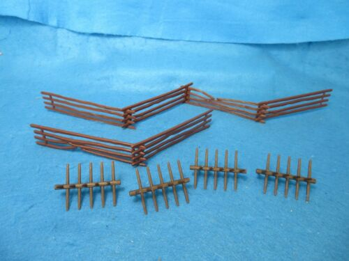 CLASSIC TOY SOLDIER Civil War split rail fence & Spiked Barricade Sections 10 pc