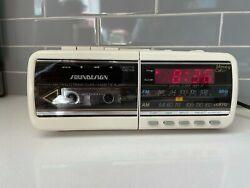 Vintage Soundesign Alarm Clock Phone AM FM Radio Cassette Player Model 7580IVY