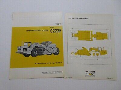 Rare Wabco C222f Tractor -elevating Scraper Sales Brochure 1967