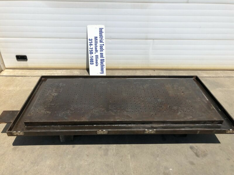 """46""""x94"""" Layout Table 8"""" Thick Fabricating Drilled Tapped Holes Steel Welding"""