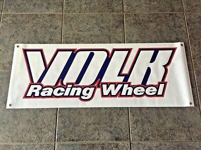 Volk Racing Wheel banner sign shop garage RAYS Engineering TE37 JDM drift drag