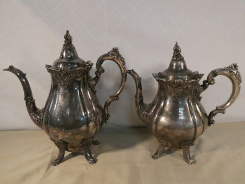 Baroque by Wallace Silver Plated Coffee Pot & Tea Pot #281 #282