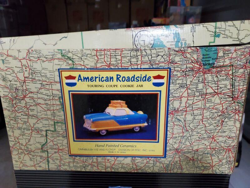 NASH METROPOLITAN COOKIE JAR TOURING COUPE Fitz & Floyd OCI Am.Roadside 1994