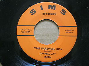 rare-DARRELL-JAY-45-RPM-One-farewell-kiss-Address-unknown-EX-Sims-298