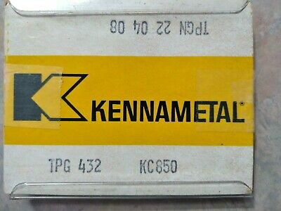 5 Pcs. Tpg 432 Kennametal Kc850 Carbide Inserts