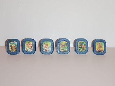 6x Tarzan Flicker Ringe 60ger Ron Ely kompletter Satz Kaugummiautomaten