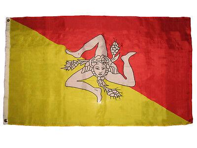 3x5 Sicily Flag 3'x5' Sicilian Nylon / Poly Blend Banner Grommets Fade Resistant