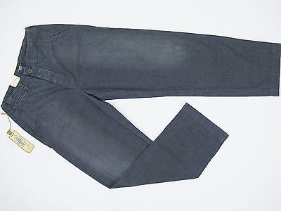 NEW! Polo Ralph Lauren Vintage Denim Military Pants 36 x 32  Wide Leg  Weathered