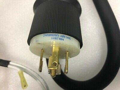 Hubbell 2511-C A Twist Lock Angle Plug HBL2511 Nema L21-20