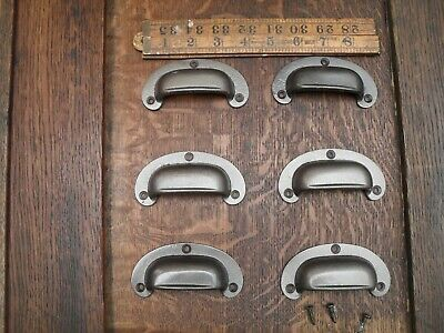 6X antique office style cup handles cast iron drawer pulls desk pull handles SP6