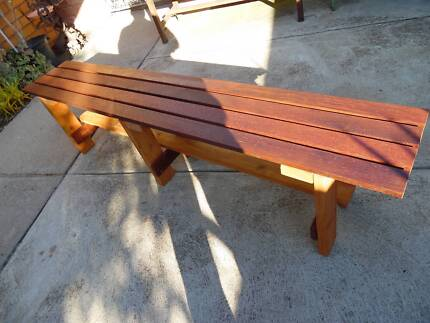 MERBAU TIMBER BENCHES DIFFERENT SIZES NEW