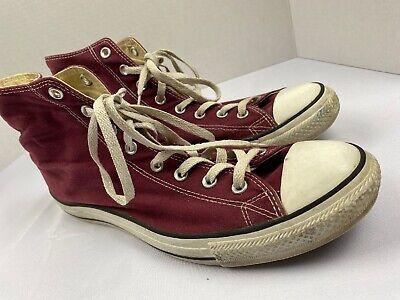 Converse All Star Chuck Taylor Hi-top - Men's Size 12  - Burgundy - Maroon Color