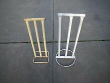 TWO METAL CRICKET STUMPS WITH PERMANENT BAILS ONE PIECE WICKET Maribyrnong Maribyrnong Area Preview