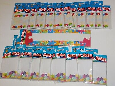 Puzzle Piece Autism Awareness Name Tags Sticky Notes Name Plate Huge Lot