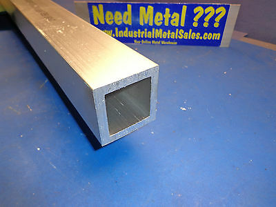 2 X 12-long X 14 Wall 6061 T6 Aluminum Square Tube--2 X .250 Wall