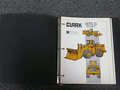Clark Michigan 475c Wheel Loader Shop Service Repair Manual