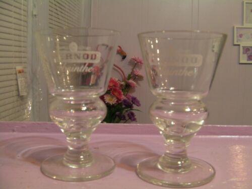 2 PERNOD ABSINTHE GLASSES