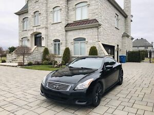 Infiniti G37s coupe 350HP ( GPS ET CAMÉRA RUCUL)  BLACK ON BLACK
