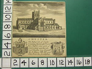 c1810 ANTIQUE PRINT ~ CHESTER CATHEDRAL