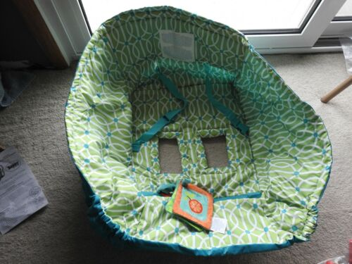 The Original Boppy Shopping Cart Cover, Green with White and Blue