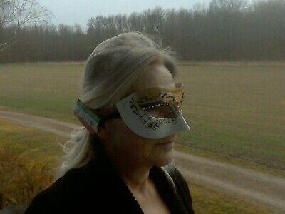 Handbemalte Damenmaske aus Venedig, Karnevalsmaske,Maske für rauschende Bälle