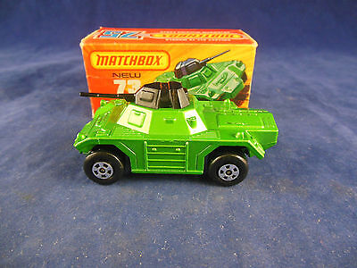 Matchbox Superfast MB - 73 b Weasel Armoured car in Light Metallic Green