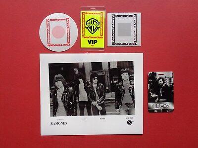 RAMONES,promo photo,4 Backstage pass Originals,Various tours