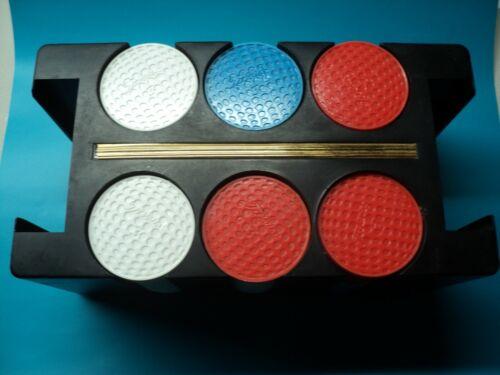 Vintage Titleist Golf Ball Poker Chip Set w/ Rack