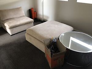 Futon and single chair lounge couch Huntleys Cove Hunters Hill Area Preview
