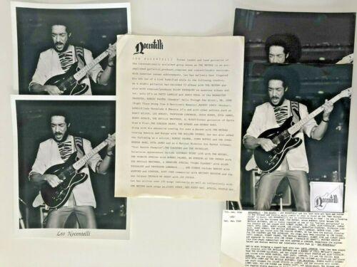 LEO NOCENTELLI  Promotion Press Kit - 4 Photos + Bio Sheet, 80