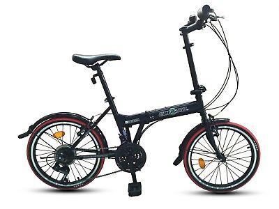 """ecosmo 20"""" Nuevo Plegable Ciudad Bicicleta 21sp Shimano - 20f03bl"""