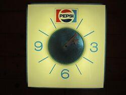 Vintage Pepsi Lighted Wall Clock