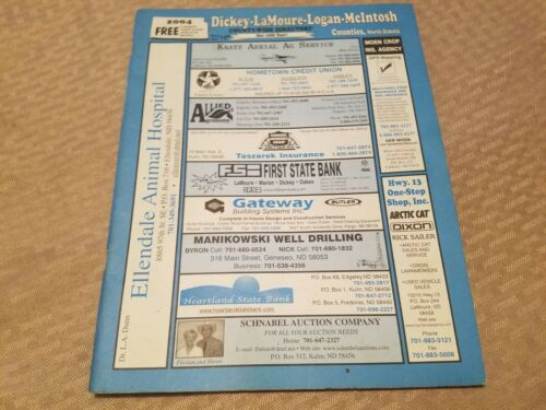 2004 Dickey Lamoure Logan Mcintosh County North Dakota Plat Book & Directory