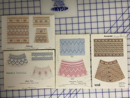 FOUR SMOCKING PLATES PATTERNS