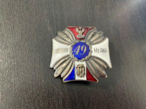 Polish officer badge 49th Hutsul Rifle Regiment Kołomyja Poland 2 RP