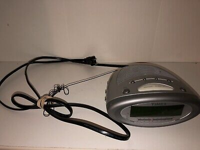 Timex T233S Dual Alarm Clock Radio Large Display with Nature Sounds Tested