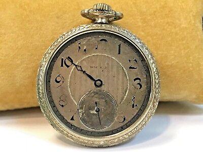 Vintage Waltham Open Face 15 Jewel Pocket Watch