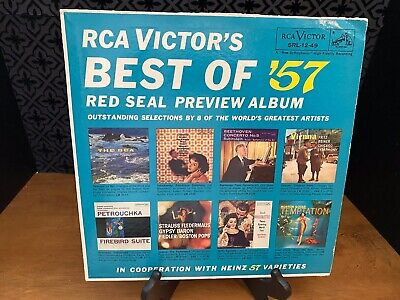 RCA Victor's BEST OF '57 (Heinz 57) 1957 Vinyl LP SRL 12-49 Plum Label