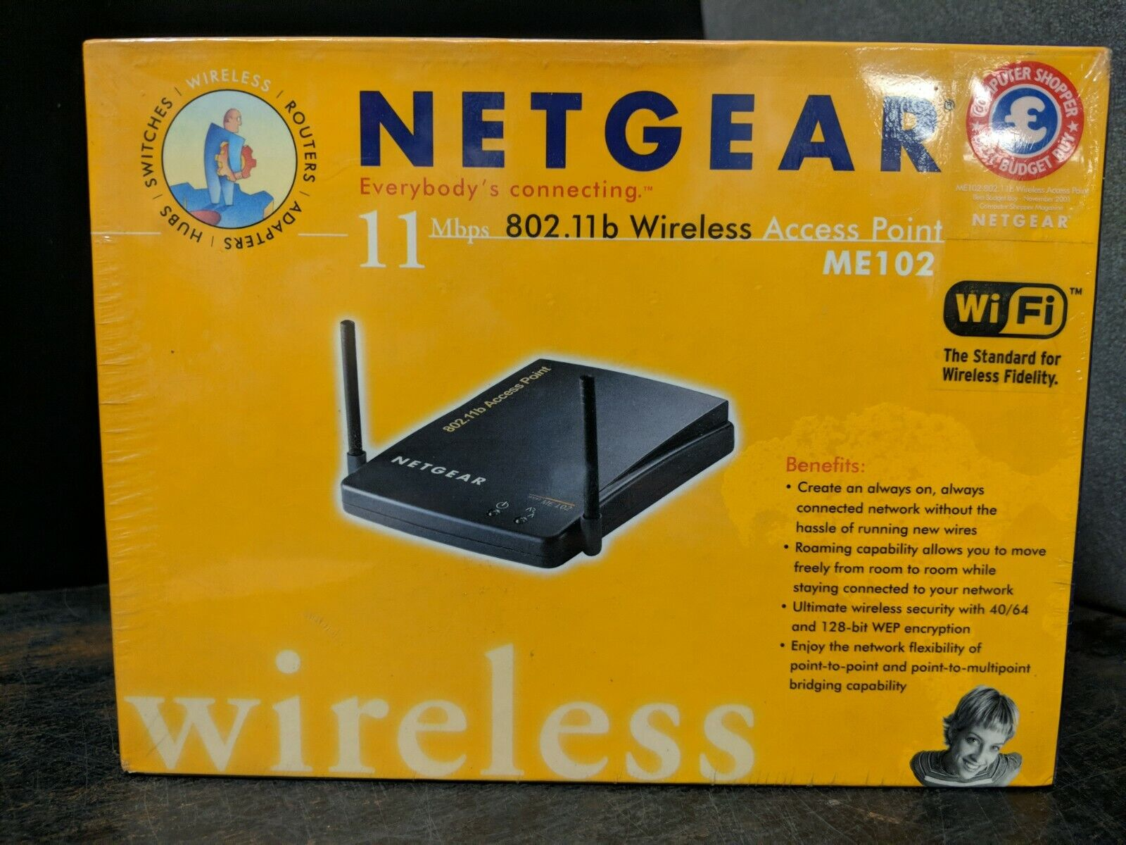 Brand New Sealed Netgear ME102 Access Point: 802.11B Wireles