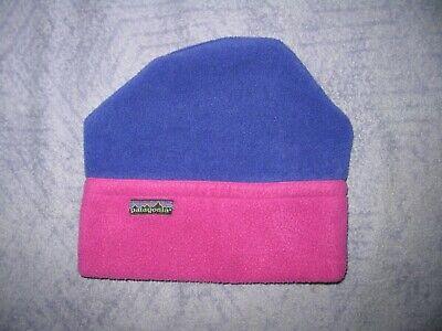 874117455553c Patagonia Fleece Thick Beanie Purple Blue Winter 58cm Medium Large 80s 90s  RARE